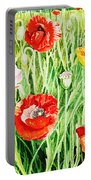 Bunch Of Poppies II Portable Battery Charger
