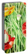 Bunch Of Poppies IIi Portable Battery Charger