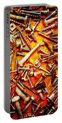 Bunch Of Screws 4 - Digital Effect Portable Battery Charger by Debbie Portwood