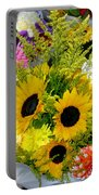 Bunch Of Sunflowers Portable Battery Charger