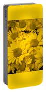Bunch Of Yellow Daisies Portable Battery Charger