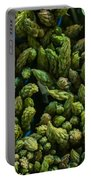Bunches Of Asparagus On Display At The Farmers Market Portable Battery Charger