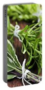 Bunches Of Fresh Herbs Portable Battery Charger
