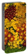 Bunches Of Yellow Copper Orange Red Maroon - Hot Autumn Abundance Portable Battery Charger