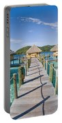 Bungalows Over Ocean Portable Battery Charger