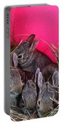 Bunnies In Pink Portable Battery Charger