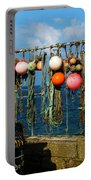 Buoys And Pots In Sennen Cove Portable Battery Charger by Terri Waters