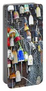 Buoys On Wall - Cape Neddick - Maine Portable Battery Charger