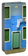 Burano Blue And Green Portable Battery Charger