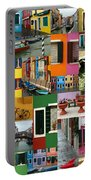 Burano Italy Collage Portable Battery Charger