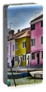 Burano Italy - Colorful Homes Portable Battery Charger