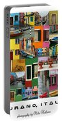 Burano Italy Poster Portable Battery Charger