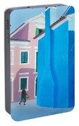 Burano Venice Street Scene Portable Battery Charger