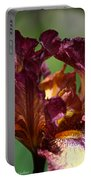 Burgundy Blossom Portable Battery Charger