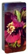 Burgundy Hellebore Flower Portable Battery Charger