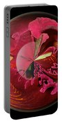 Burgundy Orchids In A Glass Globe Portable Battery Charger