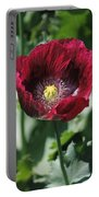 Burgundy Poppy Portable Battery Charger