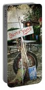 Burma Shave Sign Portable Battery Charger by RicardMN Photography