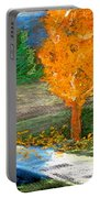 Burning Trees Portable Battery Charger