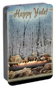 Burning Yule Log Portable Battery Charger
