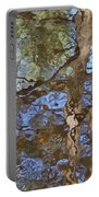 Reflection In Bushkill Falls  Portable Battery Charger