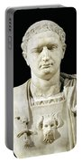 Bust Of Emperor Domitian Portable Battery Charger by Anonymous