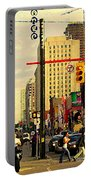 Busy Downtown Toronto Morning Cross Walk Traffic City Scape Paintings Canadian Art Carole Spandau Portable Battery Charger