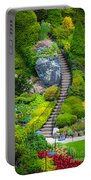 Butchart Gardens Stairs Portable Battery Charger