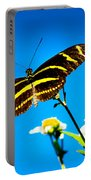 Butterflies And Blue Skies Portable Battery Charger