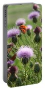 Butterflies And Bull Thistle Wildflowers Portable Battery Charger
