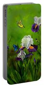 Butterflies In The Iris Portable Battery Charger