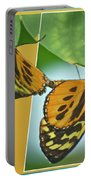Butterflies Mating Out Of Bounds Portable Battery Charger