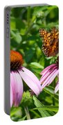 Butterflies On Echinacea Flowers Portable Battery Charger