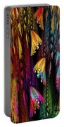 Butterflies On The Curtain Portable Battery Charger