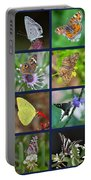 Butterflies Squares Collage Portable Battery Charger