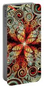 Butterfly And Bubbles Portable Battery Charger by Anastasiya Malakhova