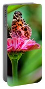 Butterfly And Flower Portable Battery Charger