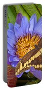 Butterfly And Lily Portable Battery Charger
