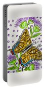 Butterfly And Thistles Portable Battery Charger