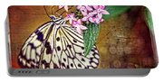 Butterfly Art - Hanging On - By Sharon Cummings Portable Battery Charger