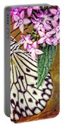 Butterfly Art - Hanging On - By Sharon Cummings Portable Battery Charger by Sharon Cummings