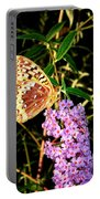 Butterfly Banquet 2 Portable Battery Charger by Will Borden