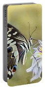 Butterfly Food At Dahlia Flower Portable Battery Charger