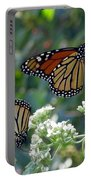 Butterfly Garden - Monarchs 01 Portable Battery Charger
