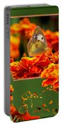 Butterfly In A Sea Of Orange Floral 02 Portable Battery Charger