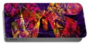 Butterfly In Abstract Dsc2977 Square Portable Battery Charger