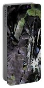 Butterfly In Violet Green And Black Portable Battery Charger