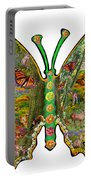 Butterfly Meadow Green Portable Battery Charger