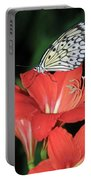 Butterfly On A Lily Portable Battery Charger
