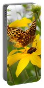 Butterfly On Blackeyed Susan Portable Battery Charger